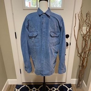 Patagonia Cotton Denim Button Down Shirt Men's L